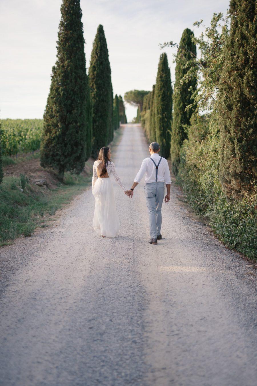 Una coppia durante il suo giorno più bello in Toscana - reportage di Igor Albanese